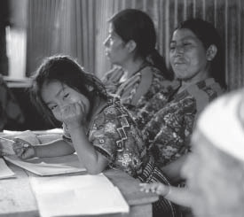 Literacy course in Guatemala