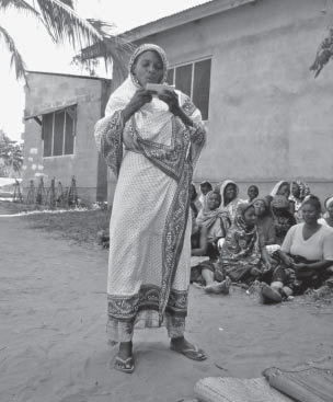 Participant in the Integrated Community Based Adult Education Programme in Tanzania